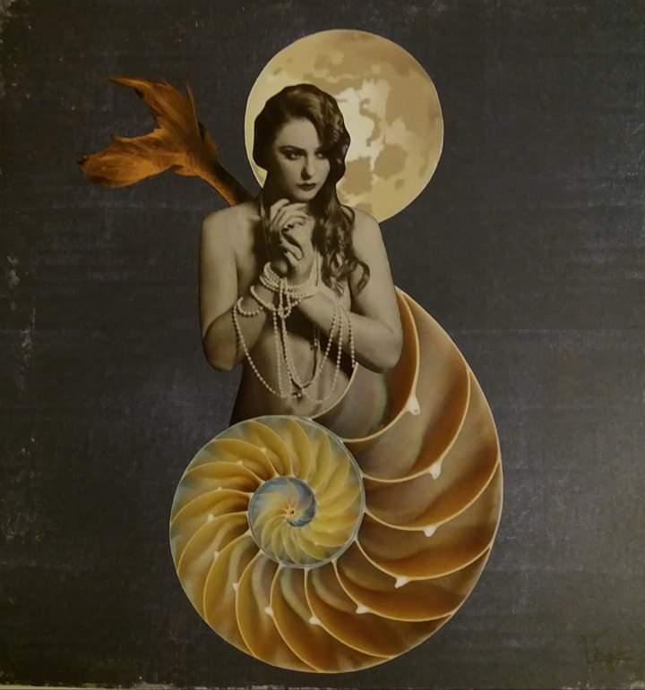 el canto de la sirena collage maria vega