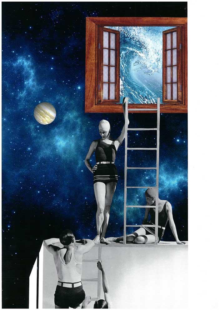 Summer Timer collage María Vega